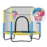Trampoline Haushaltstrampolin Erwachsener mit Schutznetz Heimtrampolin für Zuhause Kann 200 kg tragen (Color : B, Size : Diameter 150 * 130cm)