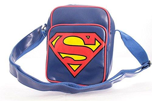 Superman Tasche Messenger Bag Umhängetasche Schultertasche Classic Logo