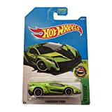 Hot Wheels Lamborghini Veneno verde Carta Larga