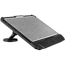 KLIM Swift-Supporto ventilato velocità regolabile-Sistema di raffreddamento per PC portatile, a 2 Ventilatori base di appoggio