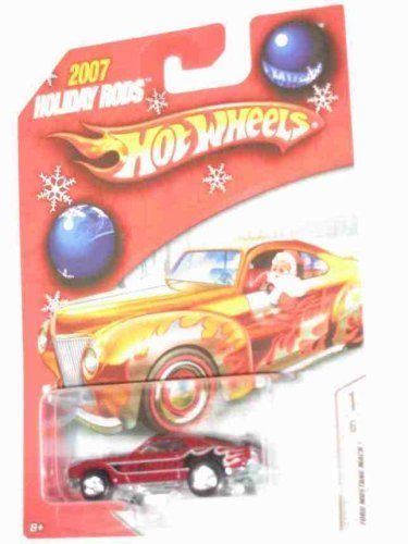 FORD MUSTANG Mach 1 2007 Holiday Rod #1 Ford Mustang Mach 1 Red Real Rider Tires1:64 Scale Collectible Die Cast Car Model by Hot Wheels