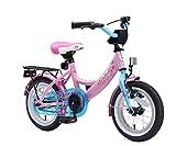 Bikestar Premium Sicherheits Kinderfahrrad 12 Zoll für Mädchen ab 3-4 Jahre ★ 12er Kinderrad Classic ★ Fahrrad für Kinder Pink & Blau