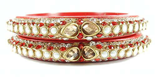 Sukriti Rajasthani Elegant Red Lac Bangadi Bangle Set for Women
