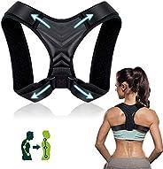 Corrector de Postura, Corrector de Postura Espalda y Hombro para Hombre y Mujer Transpirable, Talla Asjustable