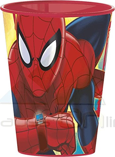 Spiderman- Vaso plastico pequeño 260 ml (STOR 22407)