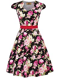 GRACE KARIN 1950 retrò Rockabilly Polka Vestito da Audery Swing Abito da  Cocktail b85834d429d