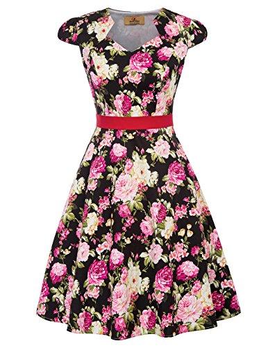 GRACE KARIN Mujer Vestido de Noche Vintage Retro Vestido Làpiz Elegante 2XL CL695-1