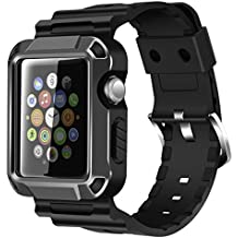 Apple Watch Banda, iitee Rugged protectora Funda iWatch y correa de banda con protector de