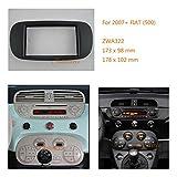 ZWNAV auto audio radio montaggio telaio fascia pannello per Fiat (500) 2007 + fascia stereo Dash CD con kit di installazione