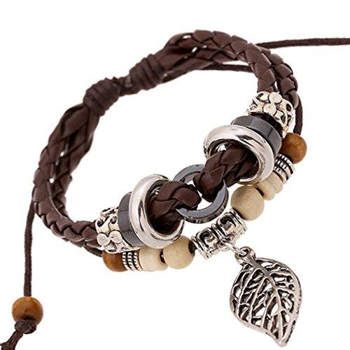 time-pawnshop-personalize-hollow-leaf-wood-beads-multilayer-adjustable-wrist-braided-bracelet
