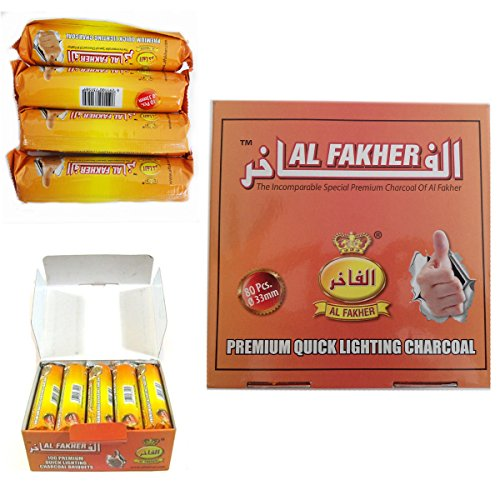 Dics Charcoal AL-FAKHER Quick Lighting Shisha Hookah Roll Coal Disc Briquet For Shisha khalil Mamoon (2 Roll)