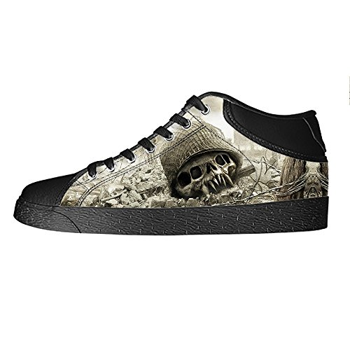 Dalliy Cool Skull Men's Canvas shoes Schuhe Lace-up High-top Sneakers Segeltuchschuhe Leinwand-Schuh-Turnschuhe B