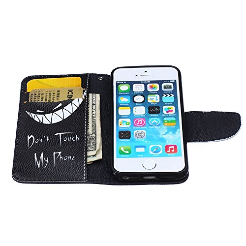 Nutbro iPhone SE Case, iPhone 5s Case, Wallet Style Case [Stand Feature] with Built-in Credit Card Slots Wallet Case for iPhone 5s / iPhone SE HX-iPhone-5S-33