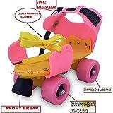 Supreme Deals Roller Skates with Front Break for Kids Age Group 4-12 Years Adjustable Inline Skating Shoe