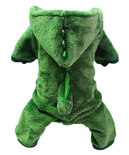 Welpen Kostüm Dinosaurier - La vogue Haustier Hund Bekleidung Dinosaurier Jumpsuit Warm Winter Hund Mantel Kostüm XL