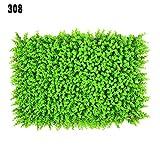 Maiaro Künstliche Pflanzen Wand Künstliche Buchsbaum Hecke Gras Matte Eukalyptus Gras Verschlüsseln 308 Nägel (60 cm × 40 cm),6Piece