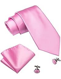 Hi-Tie Classic Men's Tie Pocket Square boutons de manchette ensemble formel