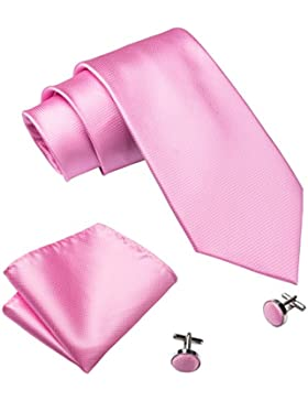 Barry. Wang Classic color sólido Tie Set para hombres Boda Negocio