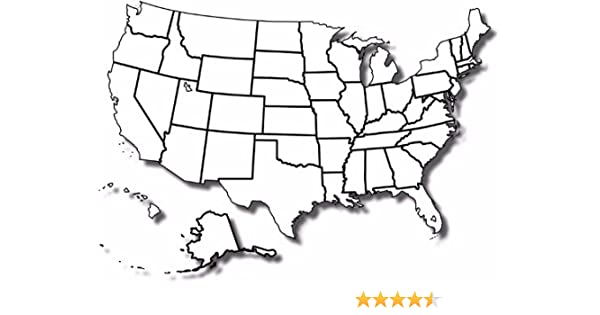 Blank Us Map With States Blank United States MAP Poster Picture Photo Banner States