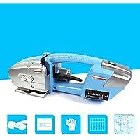 JIAN YA NA DJ16 portátil Strapping máquina eléctrica de plástico de acero correa de la máquina de embalaje Baler con la batería recargable Azul