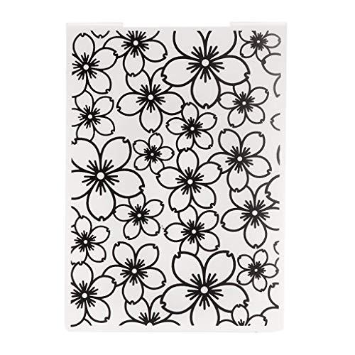 Prägungsordner Vorlage Kunststoff DIY Sammelalbum Fotoalbum Karte Papier Handwerk Blume -