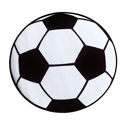 SODIAL Tapis de Salon ronde en motif de football Tapis pour les Enfants Tapis de Chambre Tapis de Chaise Tapis de Bain Tapis 60 cm