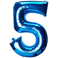 Amscan Number 5 Blue Super Shape Foil Balloon, 58 x 83 cm