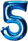 AMSCAN, Palloncino a forma di numero 5, 53 x 86 cm, colore: Blu