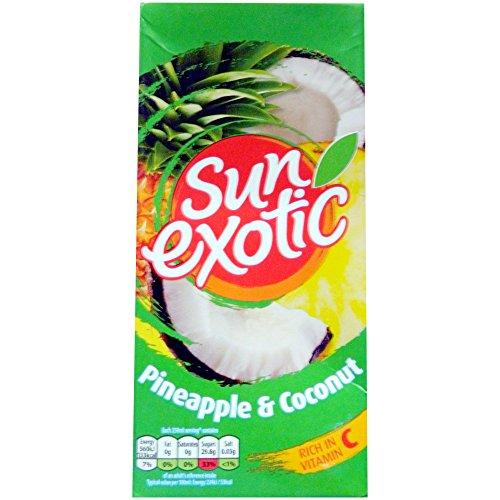 Kokos-saft (Sun exotics Pineapple & Coconut Juice Ananas und Kokosnuss Saft Getränke exotisch)