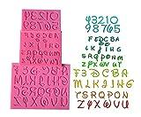 Buchstabe Schablonen, Silikon Kuchen Formen, Hochzeit Kuchen Dekorationen Alphabet 3D Sugarcraft Kerze DIY Kuchen dekorieren Tools, 3Pcs