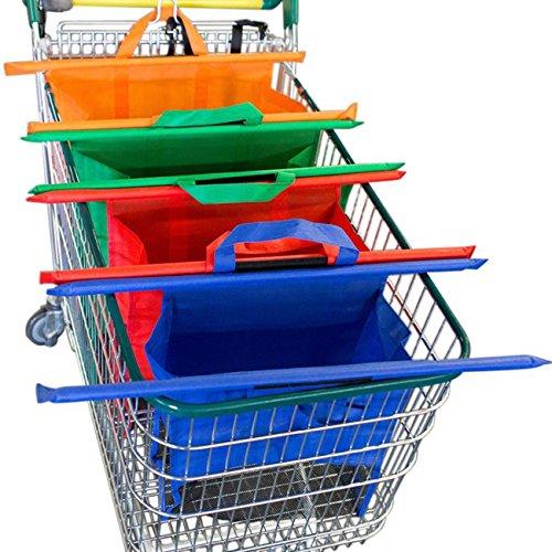 THEE 4pcs Bolsas de Compra Bolsas Reutilizables del Carrito