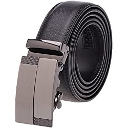 VBIGER Cinturón Cuero Cinturones Hebilla Automática (un tamaño, Negro 1)