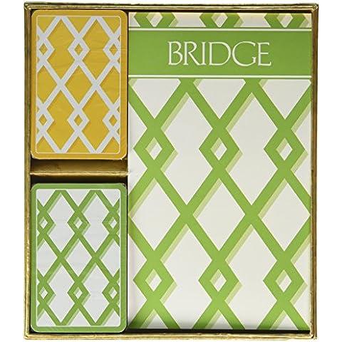 Trellis Bridge 2 Score Pads Playing Cards Gift Set