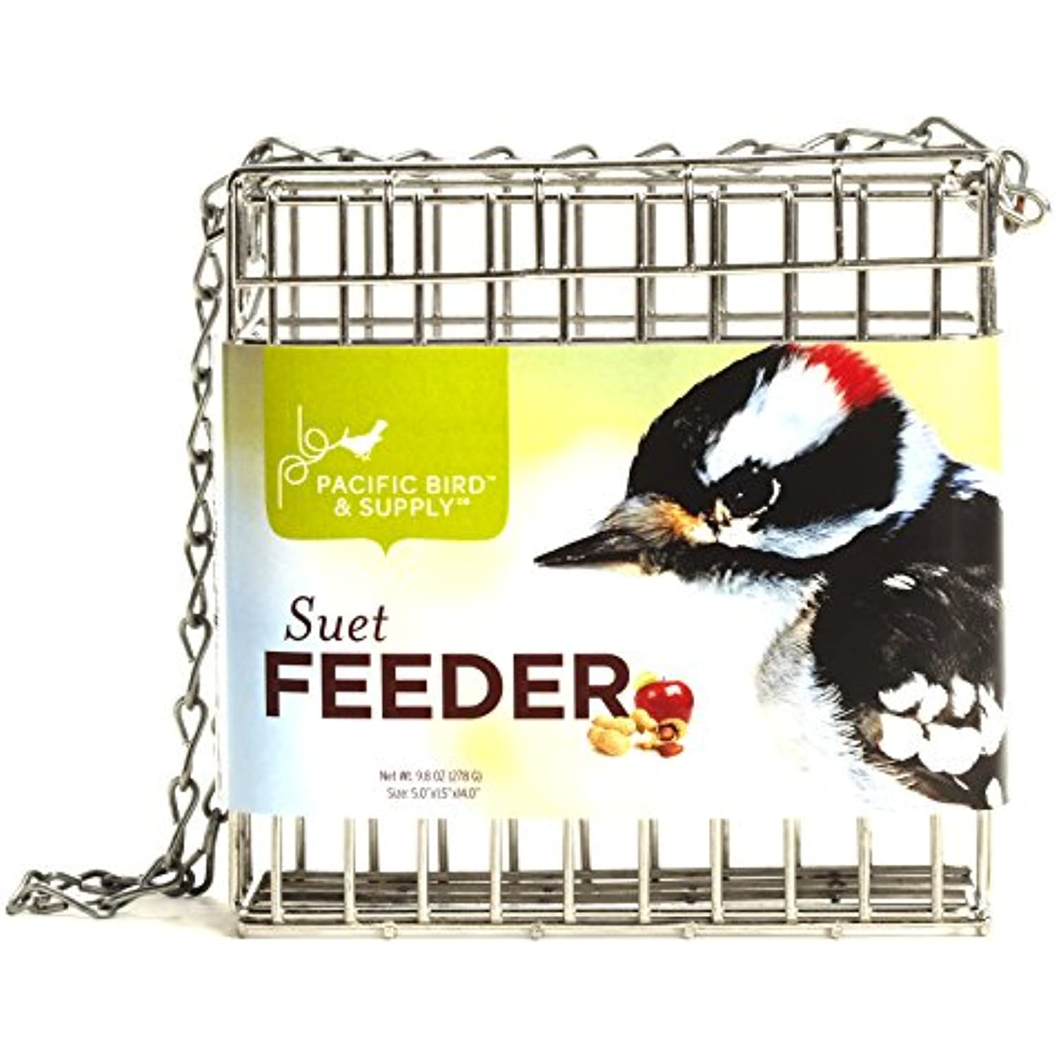 Pacific Pacific Pacific Bird & Supply Suet Cage Feeder Heavy Gauge Wire Fill & Hang Backyard b11711