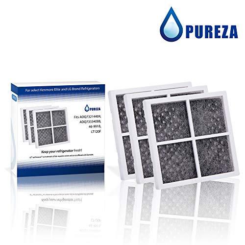 Ersatz für LG lt120F, Kenmore 469918Air Filter kompatibel mit adq73214402, adq73214403, adq73214404, 46-9918, 9918Kühlschrank Air Filter von Pureza, 3Stück - Kühlschrank Filter Air Lg