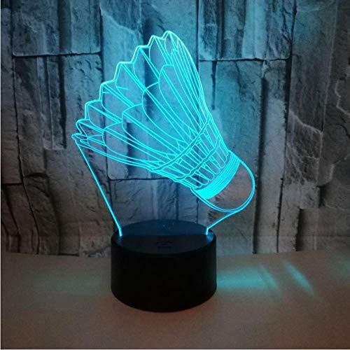 Pbbzl Badminton 7 Farbwechsel 3D Lampe Fernbedienung Touch Schalter 3D Leuchten Weihnachtsgeschenk Für Baby Zimmer Lichter
