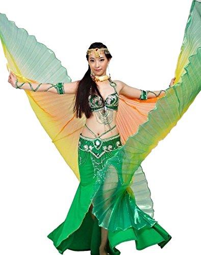 Tanzbekleidung & Accessories Isis Wings Flügel Schleier Bauchtanz Belly Dance Kostüm Fasching Karneval Samba Tanz (Bunt 7) (Tanz Sieben Schleier Kostüm)