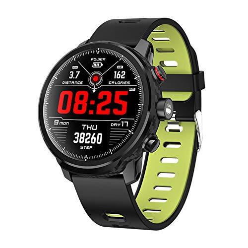 IGRNG Geschäft Uhr, smart Uhr HD runder Bildschirm große Batterie wasserdichte Multi-Motion-Funktion Taschenlampe Wettervorhersage, für Androi, iOS-Plattform