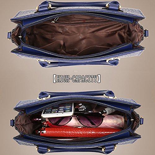 (G-AVERIL) Borse Donna,GAVERIL Borse Tracolla in PU Pelle Borse Grandi Borse Spalla Tote Bag nero