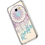 Ukayfe Custodia Compatibile con Samsung Galaxy A50,Trasparente HD Morbido TPU Silicone Cover Placcatura Bumper Case Ultra Sottile Leggero Flessibile Crystal Clear TPU Antiurto Protettiva-Rosso