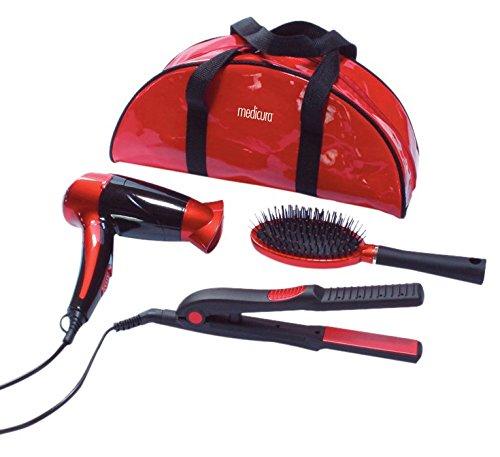 Ardes Kit pour Cheveux Sèche Cheveu + Fer à Lisser + Brosse + Pochette