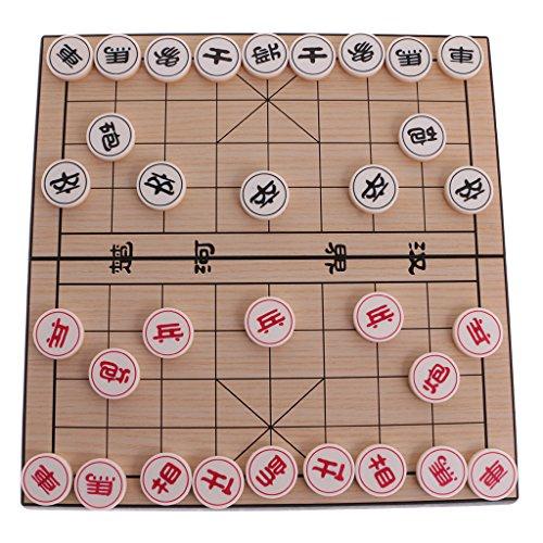 Hellery Magnetisches Chinesisches Schachspiel Xiangqi Checkers Chess Board Für Das Reise Spielen (Checkers Board Spiel)