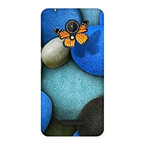 Pebbls and Butterfly Back Case Cover for Micromax Canvas Spark Q380