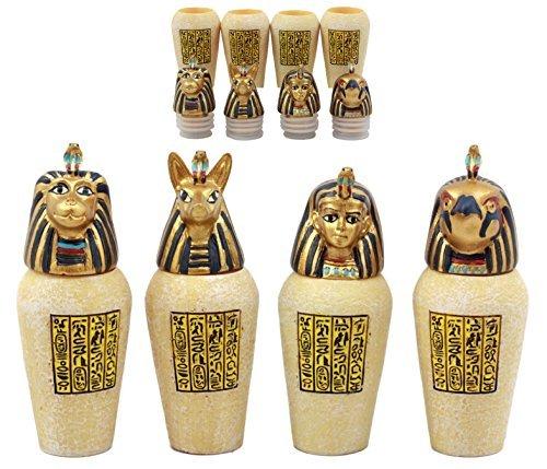 Ebros Geschenk Antike Ägyptische Vier Söhne des Horus Canopic Gläser imsety Duamutef Hapi- und kebechsenuef Miniatur Figuren