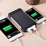 FGHGFCFFGH Caricabatterie Solare Universale, Caricabatterie Universale per Cellulare, Doppio Caricatore Solare USB a Doppia capacità