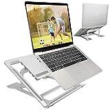 ELZO laptopstandaard - Multi-Angle-standaard aluminium instelbare standaard voor laptop 10-17,3 inch tablet/MacBook/tablet, Microsoft Surface Pro