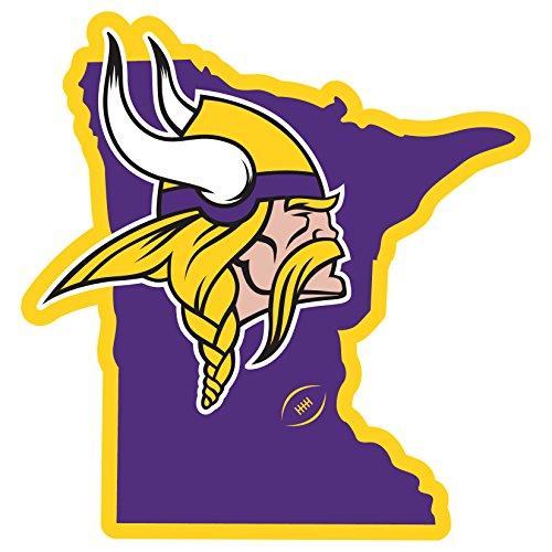 Siskiyou Minnesota Vikings Home State 27,9cm Magnet, Violett, 27,9cm (Geburtstag Minnesota Vikings)