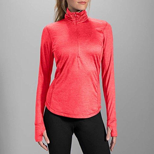 Dash Long Sleeve (Brooks Damen Laufshirt Dash Half-Zip Pink - 220977-603 (M))