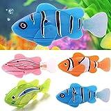 Funwill Schwimmen Roboter Fisch in Wasser Aktiviert Elektro Turbot Clownfish Batteriebetriebene Robo Fisch Spielzeug Kinder Kinder Roboter Geschenk (4 Stück)