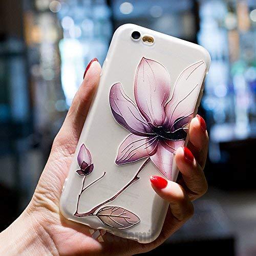 Cocomii Cute Armor iPhone 6S/6 Hülle [Fühlt Sich Gut In Der Hand] Erstklassig Hübsch 3D-Muster Relief Silikon Stoßfest Gehäuse Ganzkörper Case Schutzhülle for Apple iPhone 6S/6 (C.Lotus Flowers) (Iphone Back Protector Scratch 6)